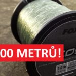Zaujalo nás: Super levný vlasec od anglické firmy FOX! 1000 metrů stojí jen 260 korun!