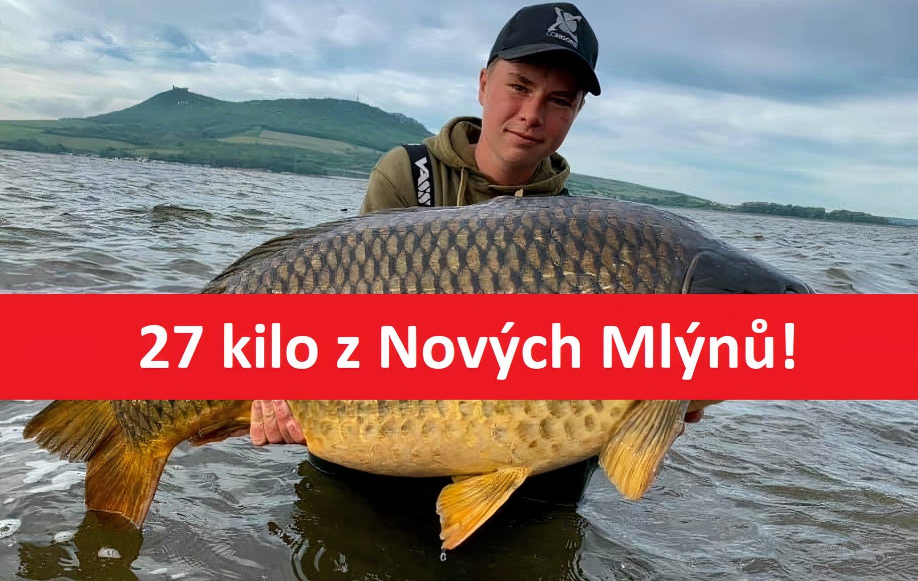 Gigant zPálavy o váze 27 kilo a délce 115 centimetrů! Zabral 450 metrů od břehu!