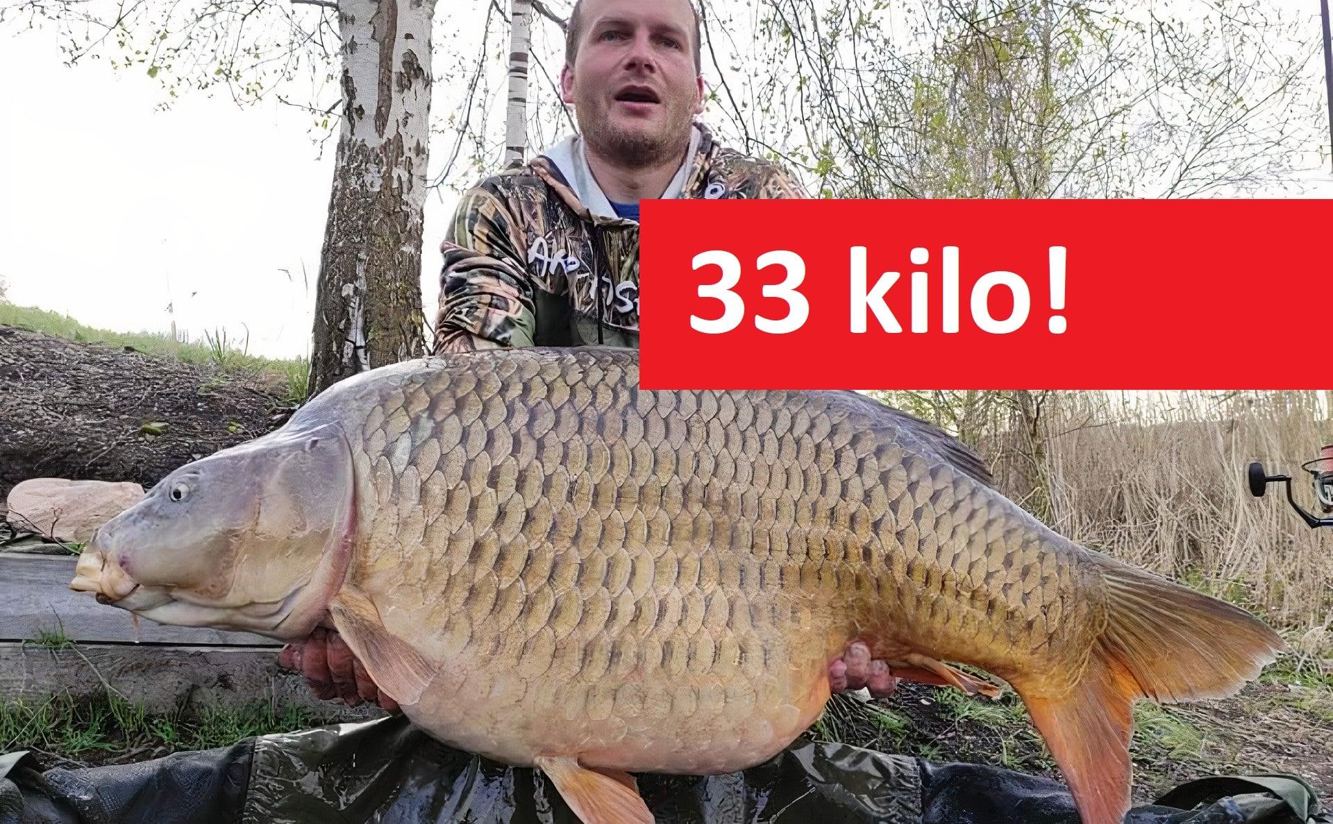 VIDEO: Gigantický kapr zčeského jezera! Tenhle šupináč vážil 33 kilo!