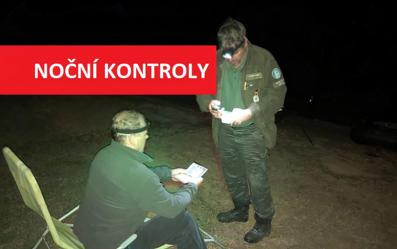 Noční zátah rybářské stráže: Porybní zadrželi několik povolenek za noční rybaření!