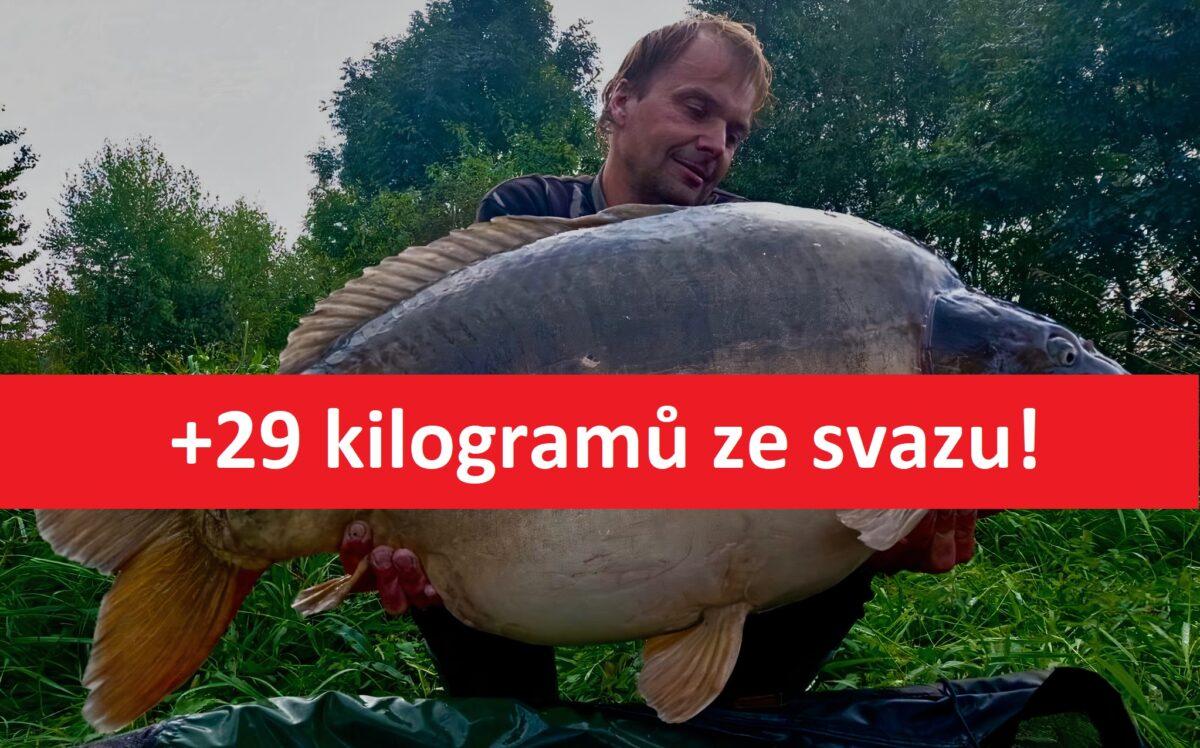Další gigantický kapr zčeské svazovky! Neskutečný lysec vážil přes 29 kilo!