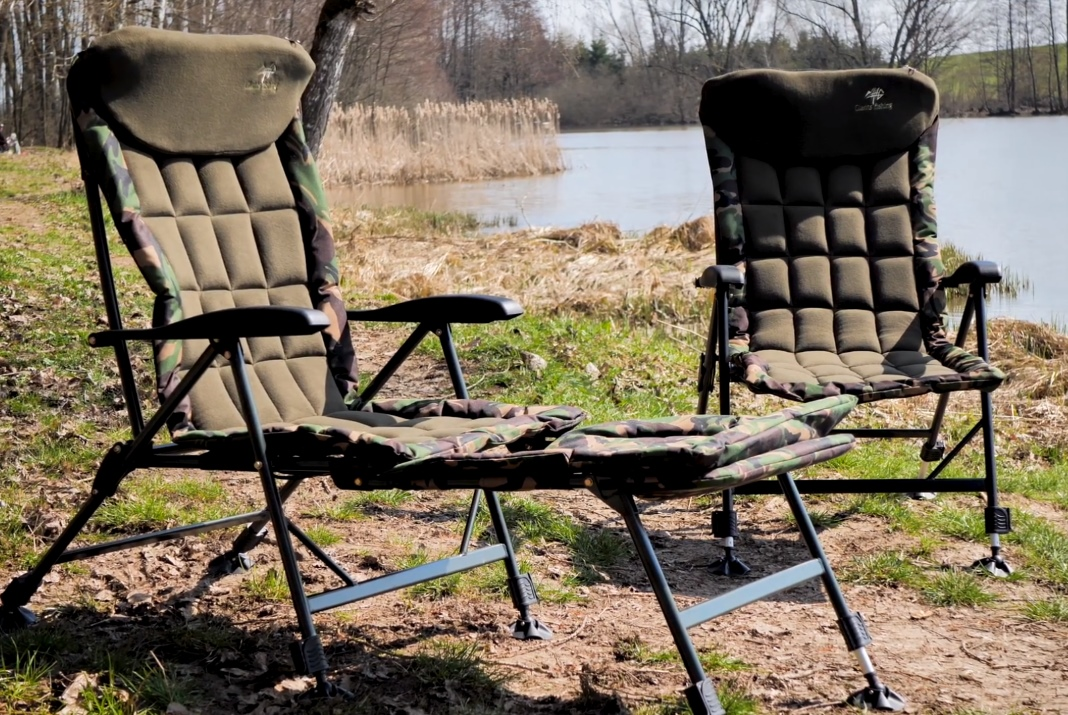 Video: Křeslo Giants Fishing Komfy Camo Chair + 2in1 Camo Chair
