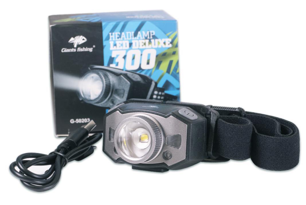Nabíjecí čelovka Giants fishing Headlamp LED Deluxe 300 – NOVINKA!