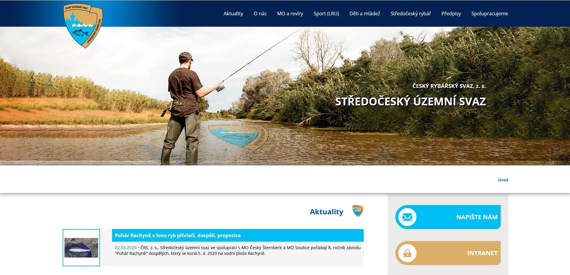 Středočeský územní svaz má nové webové stránky