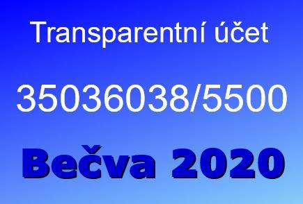 Transparentní účet Bečva 2020