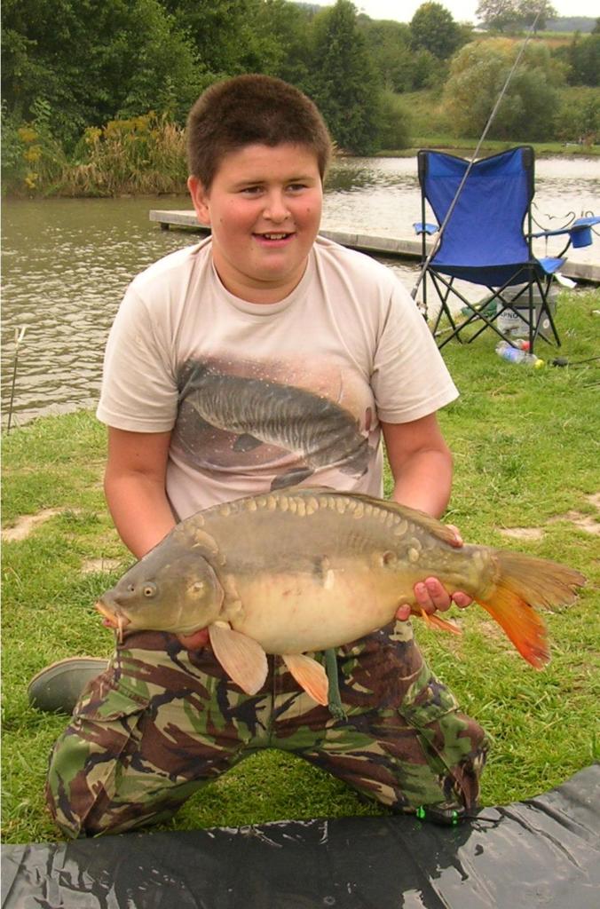 Děti na rybách. Výlet do Sobáčova u Mohelnice