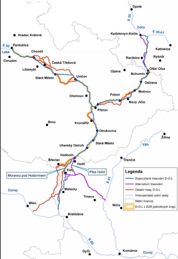 Vláda bude v pondělí projednávat vodní koridor Dunaj – Odra – Labe!