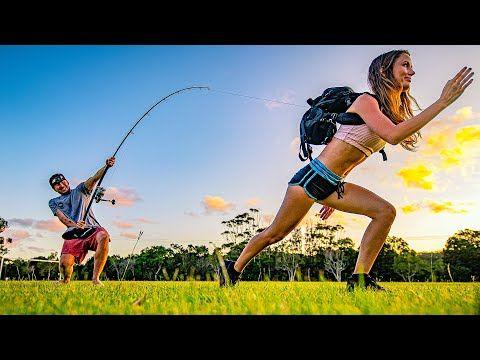Zajímavý test. Je možné zastavit běžícího člověka pomocí rybářského prutu?