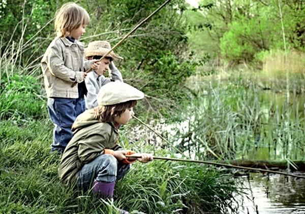 Děti rybaří - rybářské začátky