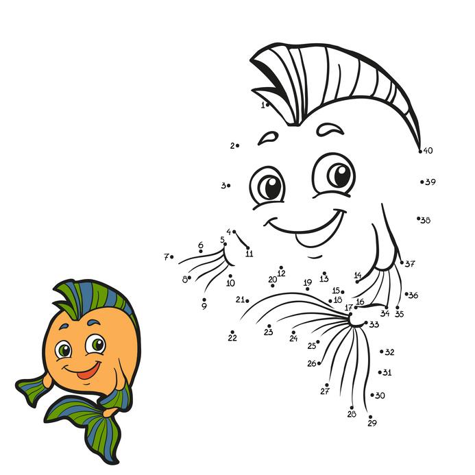 Dětská zábava: Numbers game (fish)