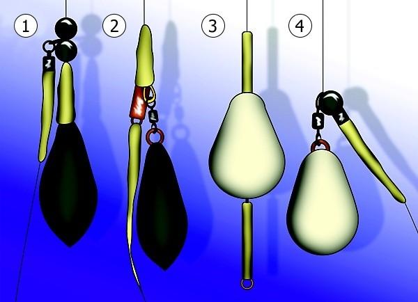 Detaily návazců vhodných na chytání na položenou