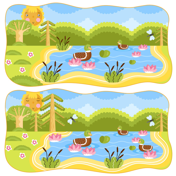 Dětská zábava: Logická hra, co chybí na spodním obrázku?
