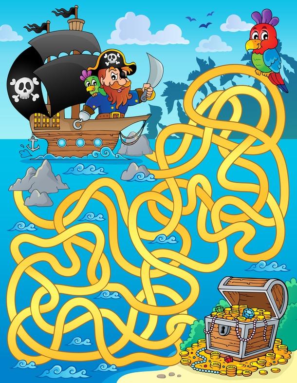 Dětská zábava: Pirátské bludiště