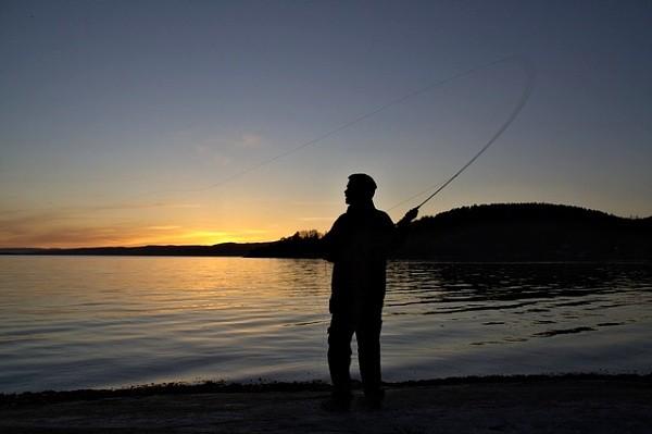 Norsko - večer u vody