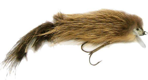 Dřevěná nástraha obalená kožíškem - myš