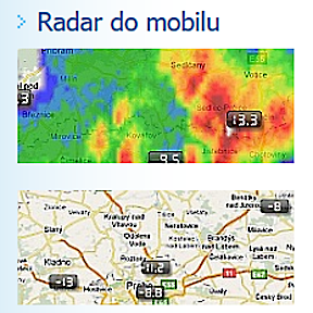 Radar do mobilu, pro Android a iPhone, iPad.