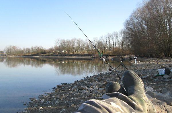 Chytání ryb v zimě, toto je foto z 15 ledna 2014! Bylo úžasně, nad 12 °C ...